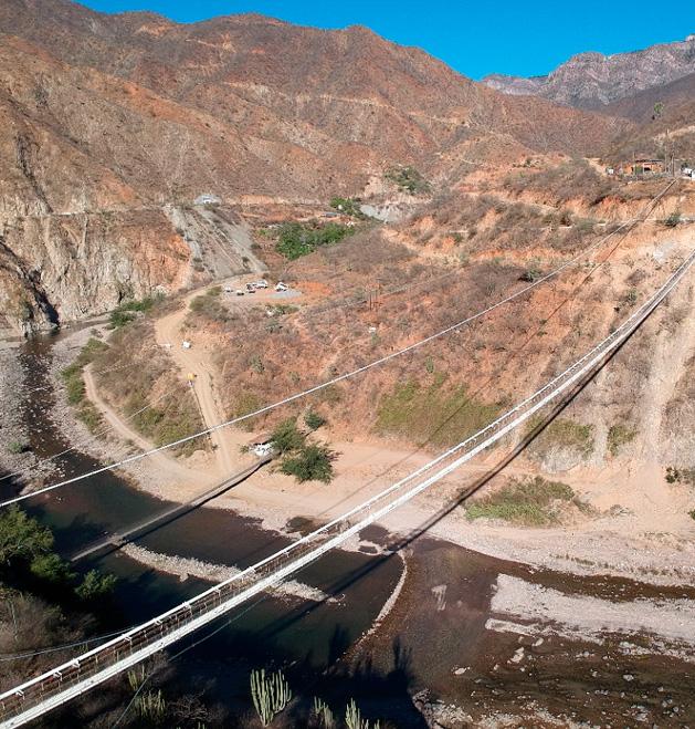 Pesaje de cables principales en puente colgante